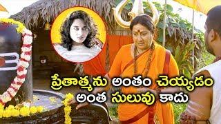 ప్రేతాత్మను అంతం చెయ్యడం అంత సులువు కాదు | Law Telugu Movie Scenes | Mouryani