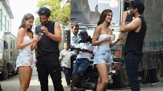 Malang Star Cast Disha Patani And Aditya Roy Kapur Spotted At Filmcity