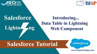 Data Table in Lightning Web Component | Salesforce Lightning Web Component |BISP Trainings