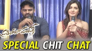 Sai Dharam Tej and Raashi Khanna Funny Interview In Bus || Prathiroju Pandage || Bhavani HD Movies
