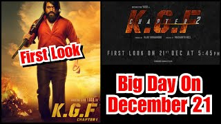 KGF Chapter 2 First Look To Be Out On December 21