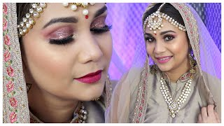 Easy Bridal Makeup Look | Bridal Make Over Using Affordable Makeup Products | Nidhi Katiyar