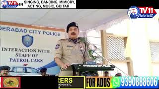 C.P ANJANI KUMAR MEETS NORTH ZONE POLICE PATROLLING STAFF AT NIZAM COLLEGE HYDERABAD | T.S