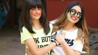 Mahima Chaudhary celebrates holi with her Beautiful Daughter