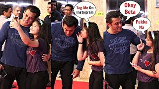 Salman Khan listens to this little girl at Ramesh Taurani Diwali Bash