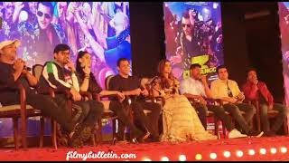 Salman Khan, Saiee Manjrekar, Warina Hussian and Arbaaz Khan at Dabangg 3 Song Launch Event