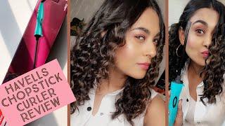 Havells Chopstick Hair Curler Review| Noodle Curls| Chopstick Curls| Hair Style Tutorial|