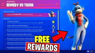 OVERTIME CHALLENGES FORTNITE - REMEDY VS TOXIN MISSION (CHAPTER 2 CHALLENGES)