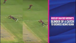 MSL 2019: Roelof van der Merwe's acrobatic catch to dismiss NMB Giants' Heino Kuhn
