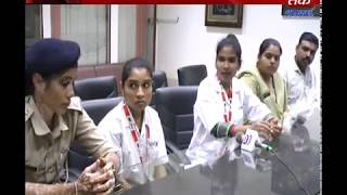 Rajkot - Abhyam 181 Women Helpline Team Visit Abtak Media House | ABTAK MEDIA