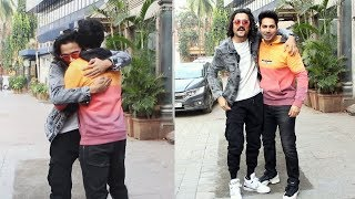 Varun Dhawan Along With Bhuvan Bam Spotted At Kings International Hotel Compound
