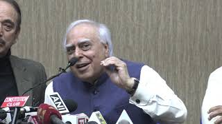 Ghulam Nabi Azad and Kapil Sibal addresses media on Citizenship Amendment Act unrest in the country