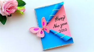 Beautiful Handmade Happy New Year 2020 Card Idea / DIY Greeting Cards for New Year.