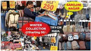 sarojini nagar   Sarojini Nagar Monday Market Winter Collection   Nidhi Katiyar