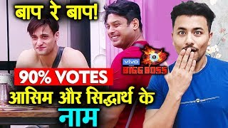 Bigg Boss 13 | Sidharth Shukla And Asim Riaz GETS 90% Of Vote Share | Bb 13 Video