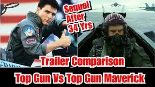 Top Gun Vs Top Gun Maverick Trailer Comparison, Featuring Tom Cruise