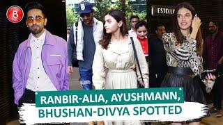 Ranbir Kapoor-Alia Bhatt, Ayushmann Khurrana, Bhushan Kumar-Divya Khosla Kumar Spotted Around Town