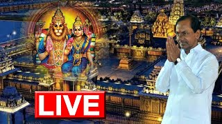 KCR LIVE | Yadagiri Gutta | Yadadri LIVE | Telangana News | Top Telugu TV