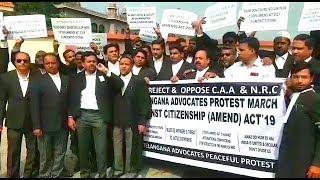 CAA Ke Khilaaf High Court Advocates Ka Protest | At High Court Hyderabad | @ SACH NEWS |