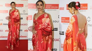 Beautiful Deepika Padukone At Lokmat Most Stylish Awards 2019   Red Carpet