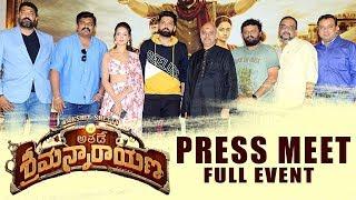 Athade Srimannarayana Movie Press Meet    Rakshit Shetty    Bhavani HD Movies