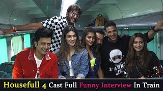 Housefull 4 Cast Funny Interview in a Running Train | Akshay,Riteish,Bobby,Kriti,Pooja,