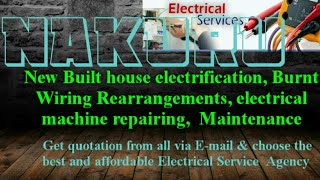 NAKURU           Electrical Services 》Home Service by Electricians ☆ New Built House electrification