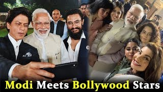 PM Modi Meets Bollywood Stars At Mahatma Gandhi Short Film Release