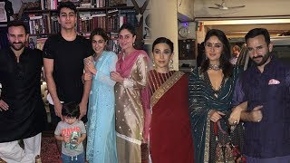 Kareena Kapoor and Saif Ali Khan Celebrating Diwali with Sara,Taimur, Ibrabim And Karishma Kapoor