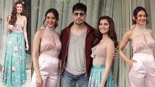 Sidharth Malhotra, Tara Sutaria And Rakul Preet Singh Promoting Their Movie Marjaavaan