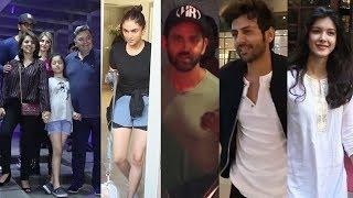 Hrithik roshan, Aditi rao, Kartik aryaan, Shanaya kapoor & Ranbir kapoor Family Spotted