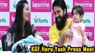 KGF Hero Yash Press Meet About Their Newly Born Baby Boy