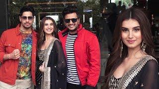 Siddharth malhotra, Riteish deshmukh, Tara sutaria Spotted Promoting Their Movie Marjaavaan