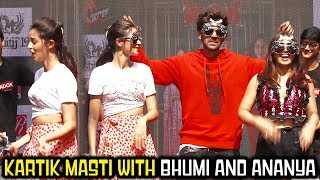 Kartik Aryan, Bhumi Pednekar And Ananya Panday Masthi With Students | Pati Patni Aur Woh