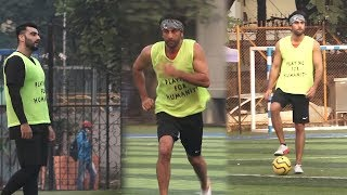 Arjun kapoor, Ranbir Kapoor & Sachin joshi Play Practice Charity Football Match