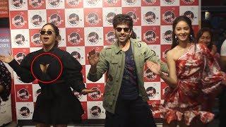 Kartik Aryaan, Ananya Panday & Bhumi Pednekar At Radio Statation for Pati Patni Aur Woh Promotions