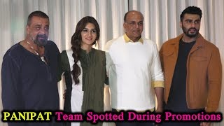Arjun Kapoor, Sanjay Dutt, Kriti Sanon and Ashutosh Gowariker SPOTTED During PANIPAT Movie Promotion