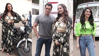 Salman Khan, Sonakshi Sinha, Sai Manjrekar & Warina Hussain Promoting Movie DABANGG 3