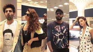 Kartik aryaan, Arjun kapoor, Jacqueline fernandez Spotted At Airport