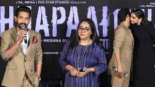 Vikrant Massey Emotional Words About Deepika Padukone At 'Chhapaak' Trailer Launch