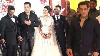 Salman Khan, Sohail Khan Attend Makeup Man Raju Naag Son Wedding Ceremony