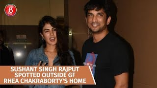 Sushant Singh Rajput Spotted Outside GF Rhea Chakraborty's House