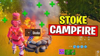 STOKE A CAMPFIRE - Fortnite Winterfest Challenges - Find Campfire Map Locations