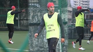 Ranbir Kapoor, Jim Sarbh & Team Playing Football At ASFC Charity Football Match