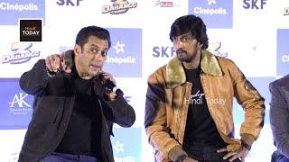 Salman Khan Funny and Hilarious Moments | Dabangg 3 press meet at Bengaluru | Kiccha Sudeep
