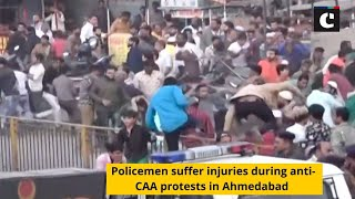 Policemen suffer injuries during anti-CAA protests in Ahmedabad