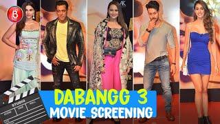 Dabangg 3: Salman Khan, Sonakshi Sinha, Saiee Manjrekar, Tiger Shroff, Disha Patani Attend Screening
