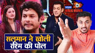 Bigg Boss 13 | Salman Khan LASHES Out At Rashmi For Unwanted Fight With Sidharth | Weekend Ka Vaar