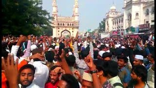 Thousands Of People At Charminar Against NRC And CAA | After Namaz E Jumma | @ SACH NEWS |