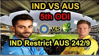 live Match : India vs Australia Live Cricket Score: Visitors Restricted To 242/9:India won by 7 wkts